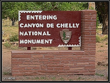"Entering Canyon de Chelly ... ""nur"" ein National Monument"