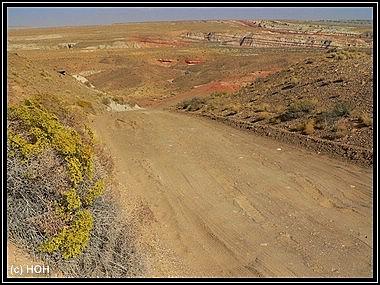 Anfahrt zum Blue Canyon