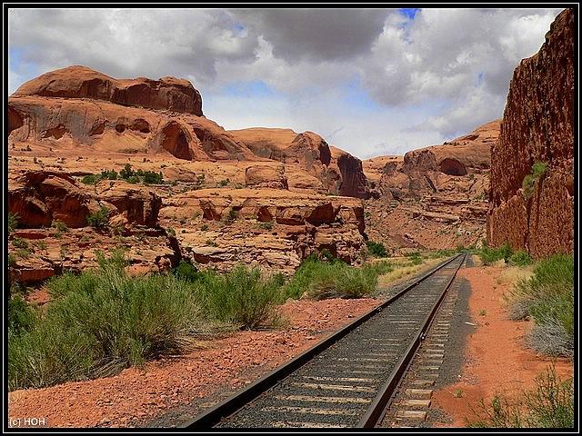 Corona Arch von den Railroad aus gesehen ...