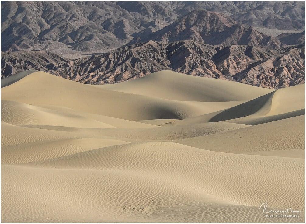 Ein klitzekleiner Teil der Mesquite Flat Sand Dunes