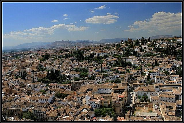 Blick auf Stadtviertel Albayzín