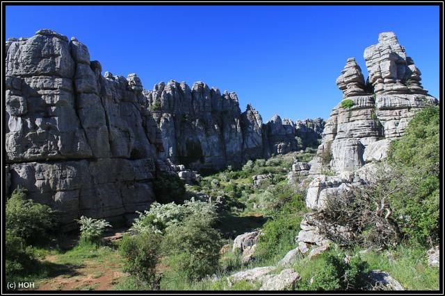 El Torcal ... fast schon ein kleiner Canyon