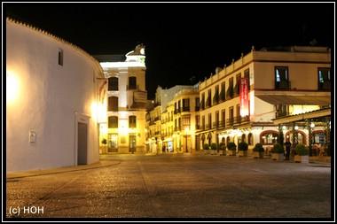 Plaza de Torros de Ronda am Abend