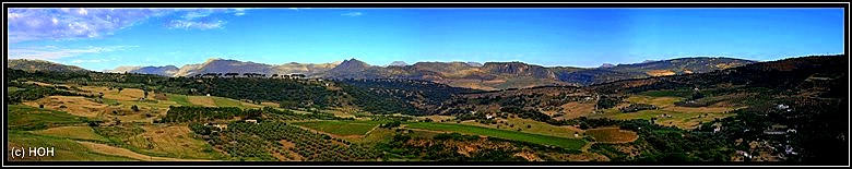 Ronda Panorama, so sieht also Andalusien aus