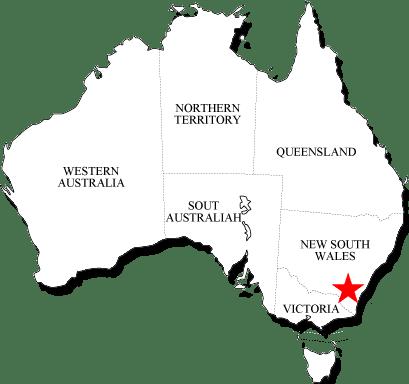 Karte der Australien Reisetipps
