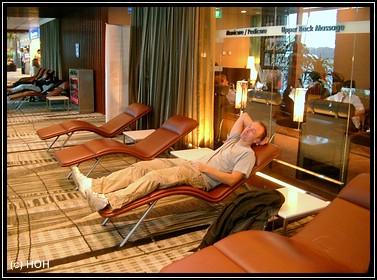 Relaxen am Flughafen Singapore