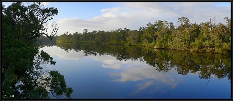 Blackwood River von der Alexandra Bridge aus gesehen ...