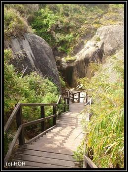 Treppe zur Elephant Cove