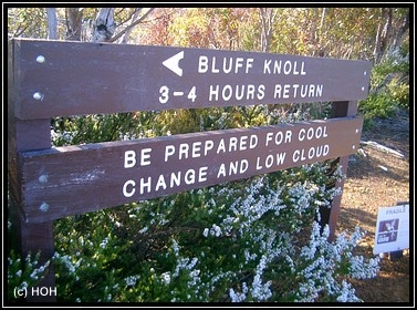 Schild am Bluff Knoll Trail