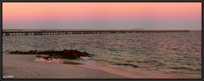 Sunset am Pier in Esperance
