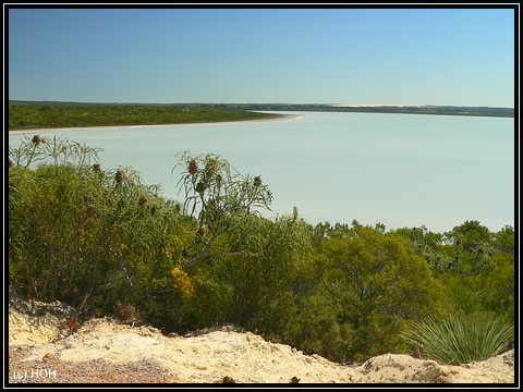 Der heute nicht so pinke Lake bei Esperance