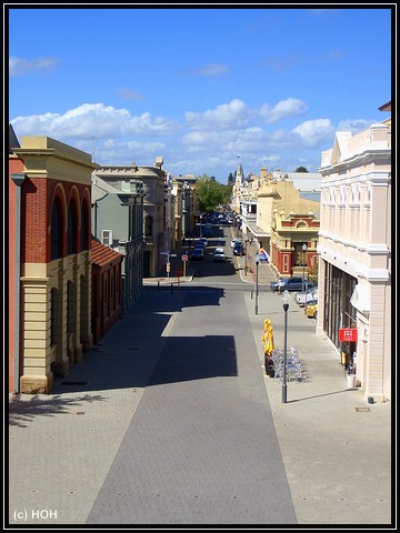 Blick vom Round House zur High Street