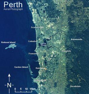 Satellitenbild von Perth