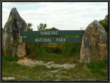 Eingang zum Nambung National Park