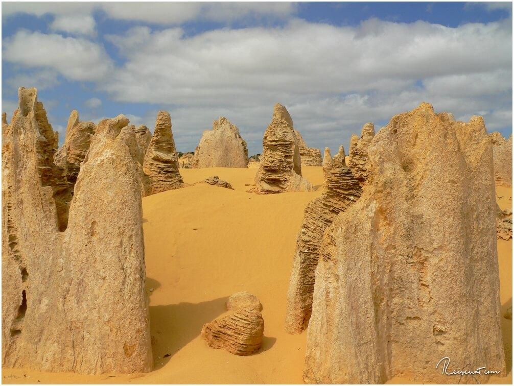 Die Spuren der Erosion sind unverkennbar bei den einzelnen Pinnacles