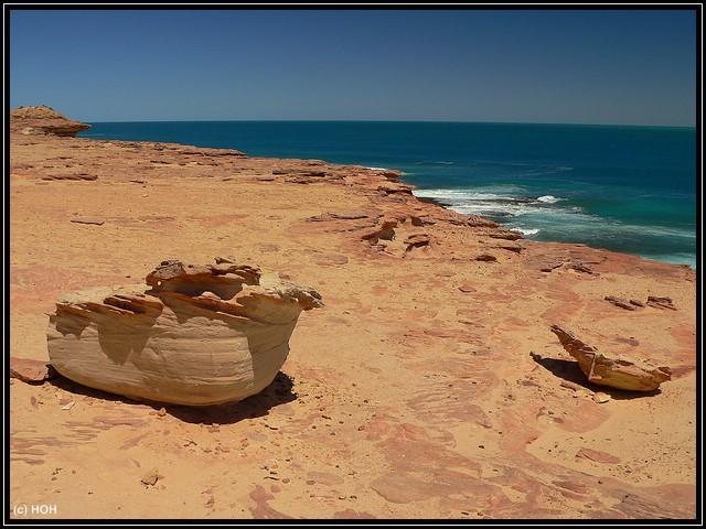 Die Küste in der Nähe des Mushroom Rock