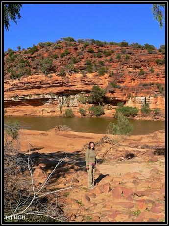 Wanderung am Murchison River entlang