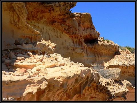 Bizarre Formen im Sandstein