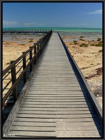 Der Steg bei den Stromatolithen