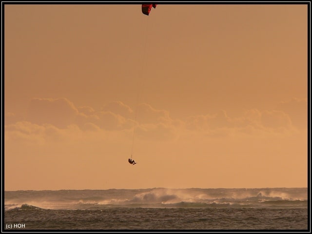 Kitesurfer am Point Moore