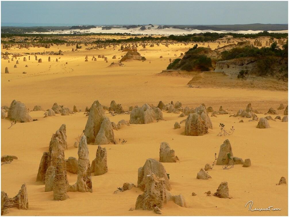 Der Nambung National Park mit seinen merkwürdigen Gesteinsformationen, den Pinnacles
