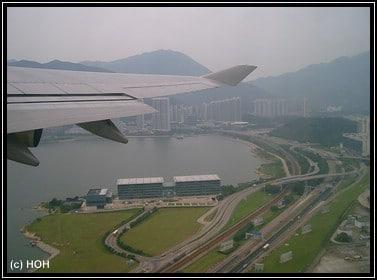 Beim Start in Hongkong