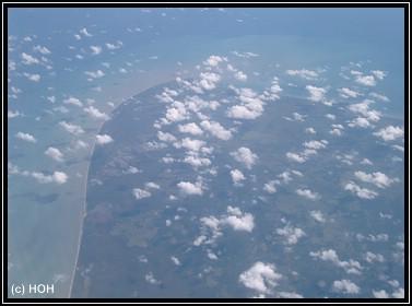 Borneo aus der Luft
