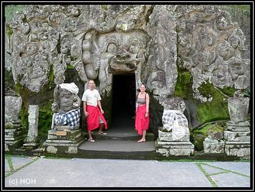 Goa Gajah Höhleneingang