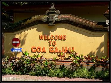 Goa Gajah Eingangsschild