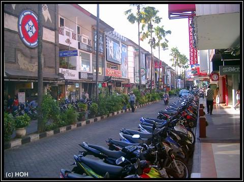 Einkaufsmeile beim MataHari Shopping Center