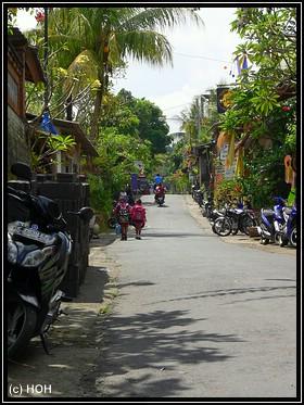 Kleine Seitenstraße in Ubud