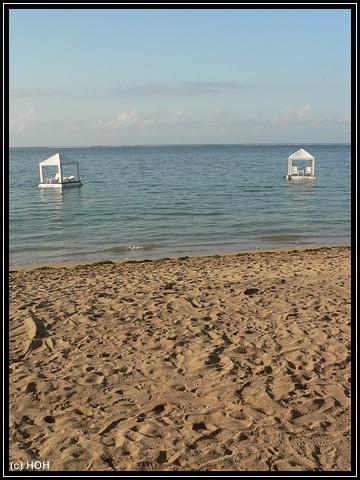 Pavillons im Wasser