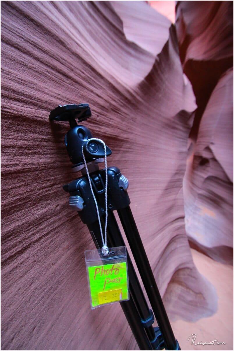 Ein Foto aus der Vergangenheit, wo man auch im Lower Antelope noch 2 Stunden völlig alleine mit einem Fotopass durch die Gegend laufen konnte.