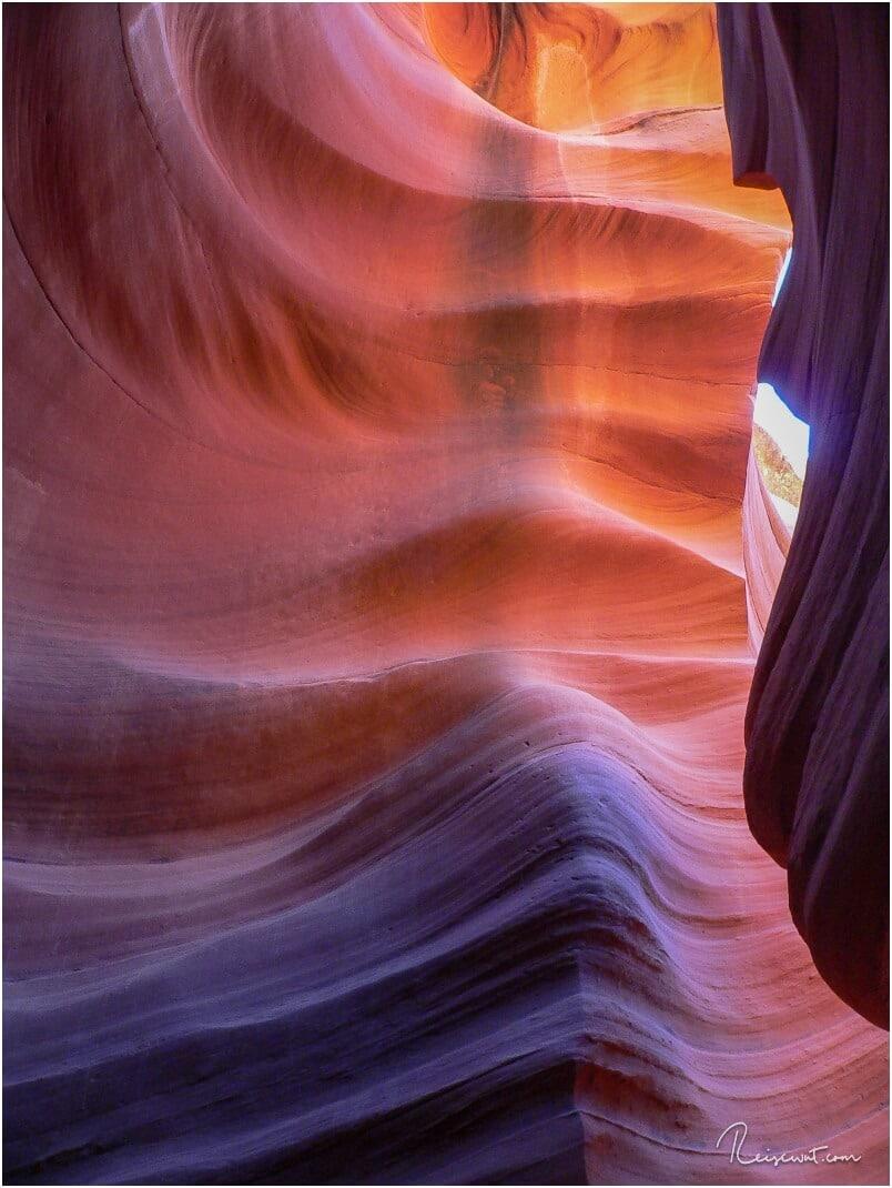 Farbenspiel an den Canyonwänden