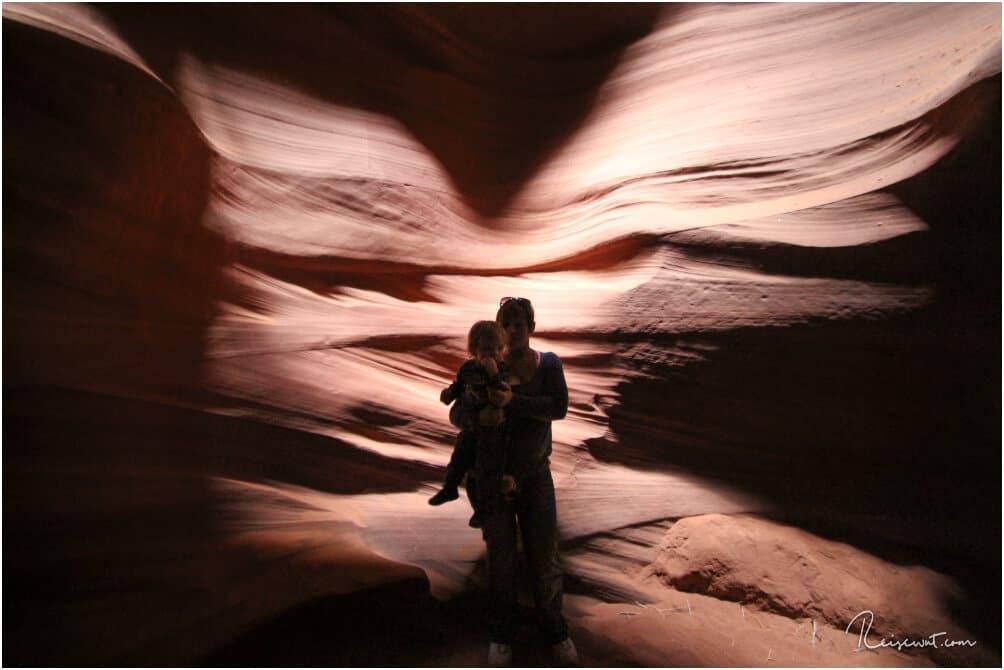Für die perfekte Form der Engelsflügel waren wir damals leider ein wenig zu spät im Canyon