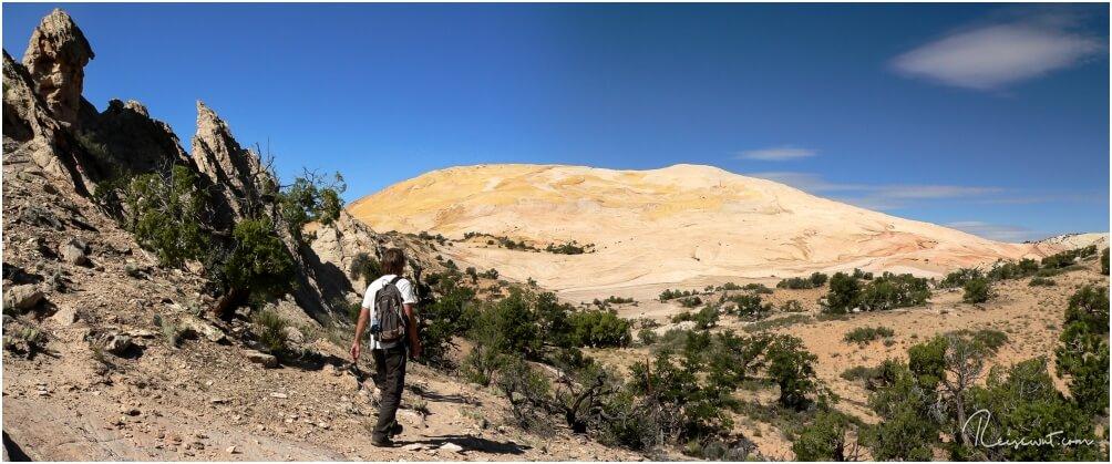 Der Yellow Rock auf der Cottonwood Canyon Road ist nur eines von vielen Zielen in der Umgebung von Page.