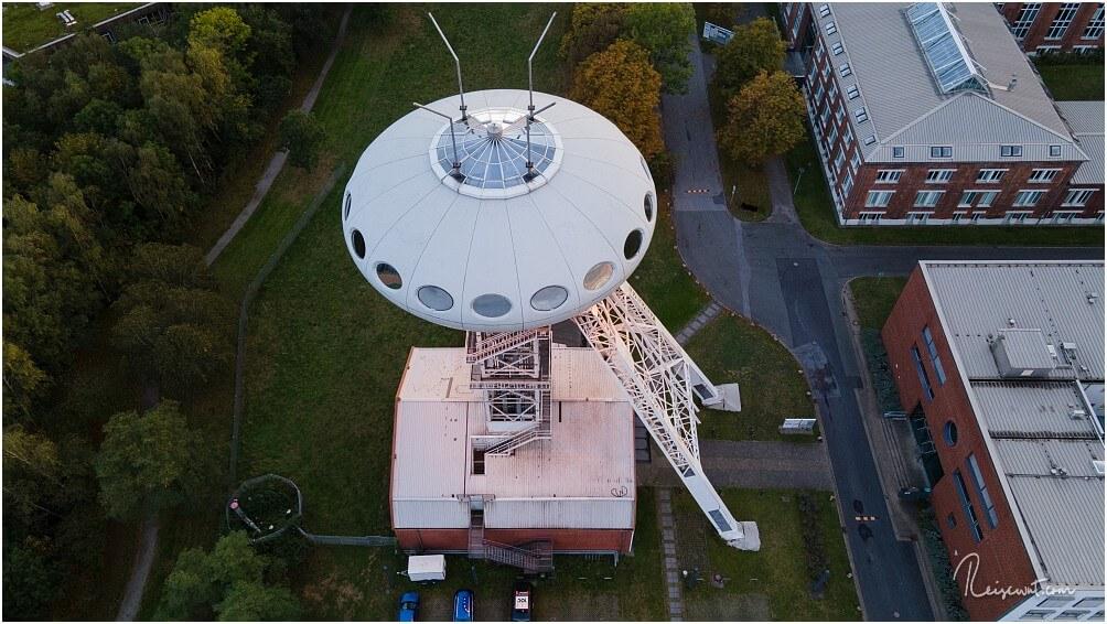 Das Colani-Ufo von oben