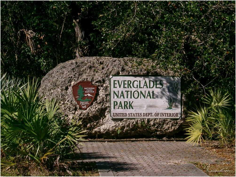 Markanter Fels am Eingang vom Everglades National Park
