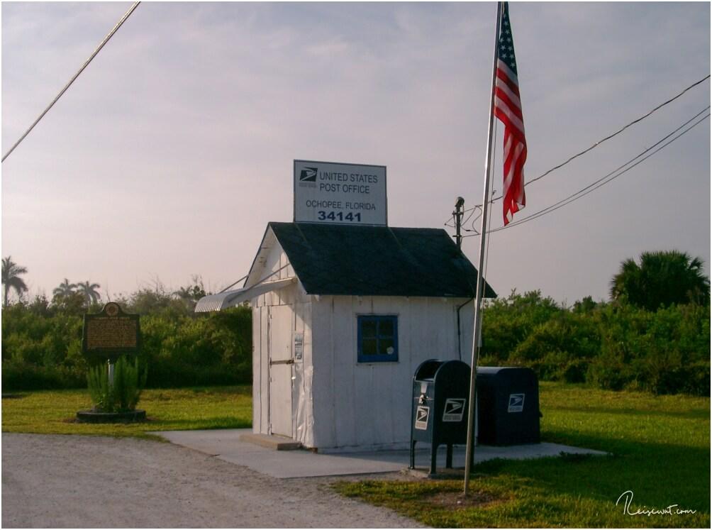 Ochobee Post Office, das kleinste Postamt der USA