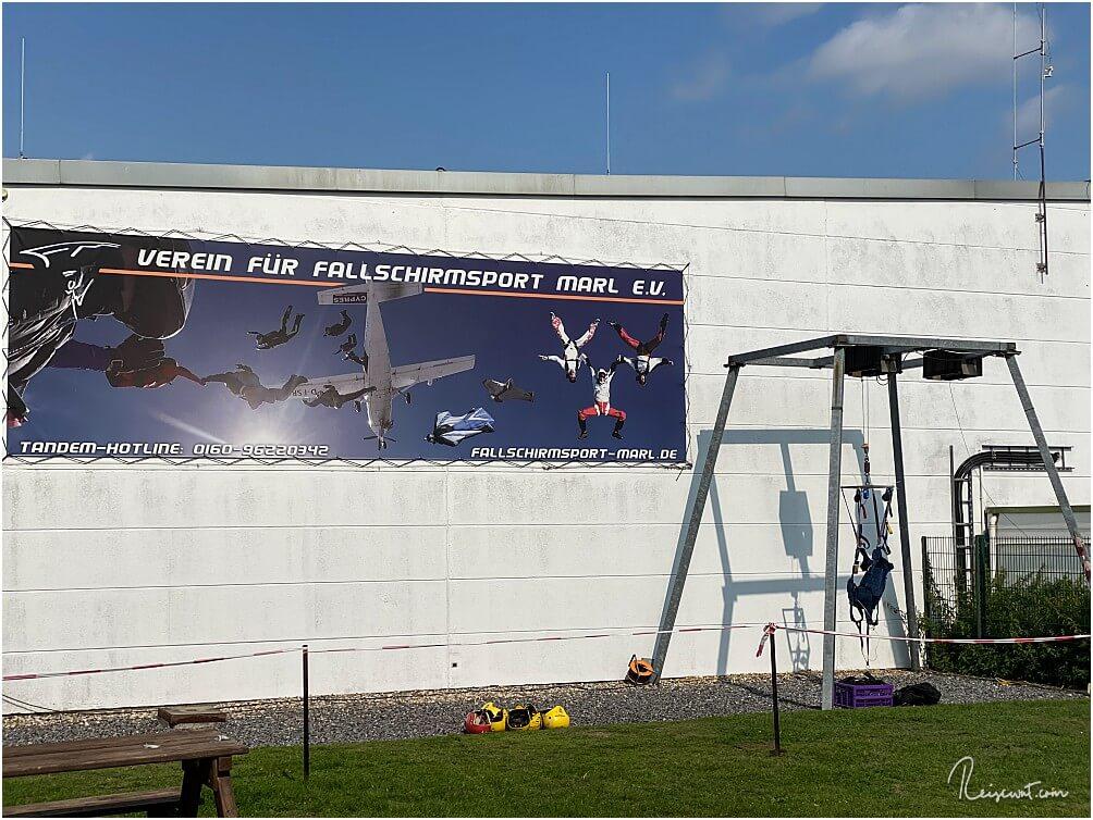 Der Außenbereich vom Fallschirmsportverein Marl