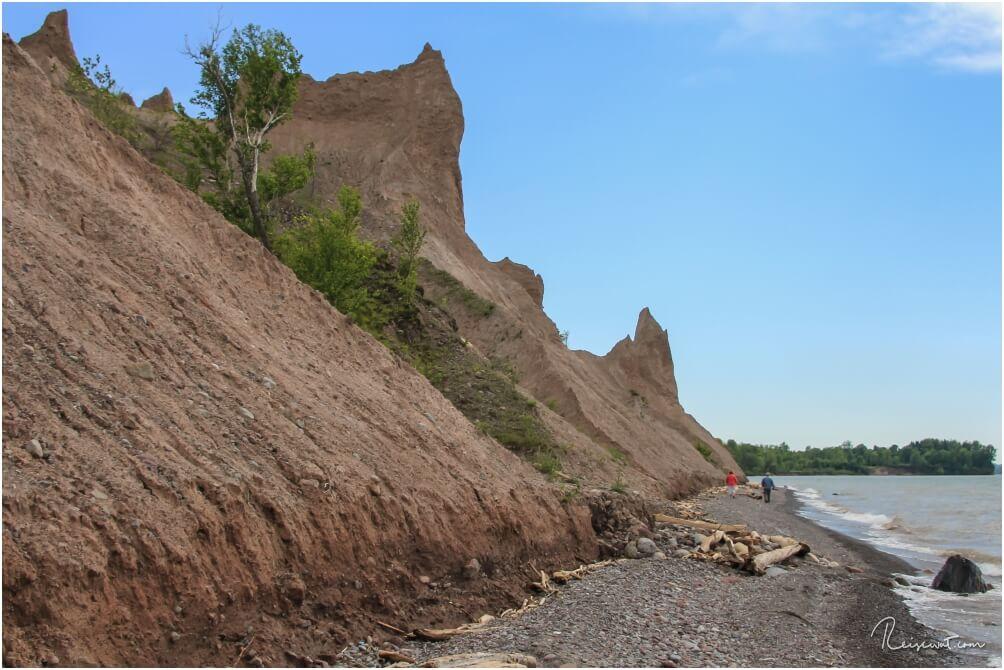 Die Chimney Bluffs bieten eine Natur, wie man sie im Staate New York jetzt nicht unbedingt erwarten würde.