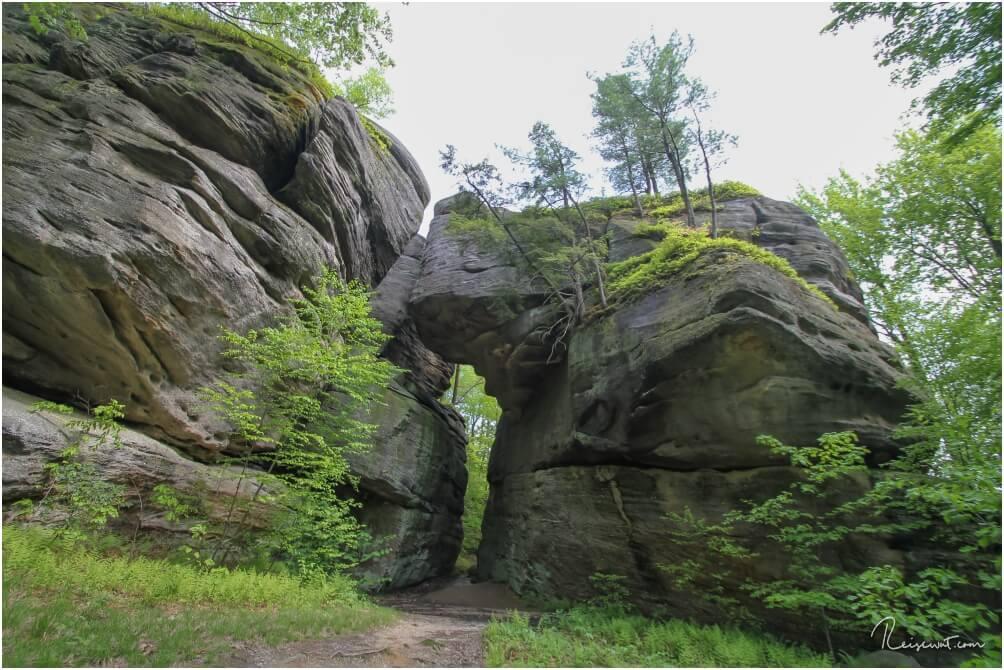 Rock City hat unter anderem diesen beeindruckenden Felsen zu bieten
