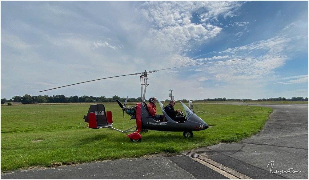 Damit man einmal weiß, wovon wir hier überhaupt sprechen ... so sah unser Gyrocopter aus