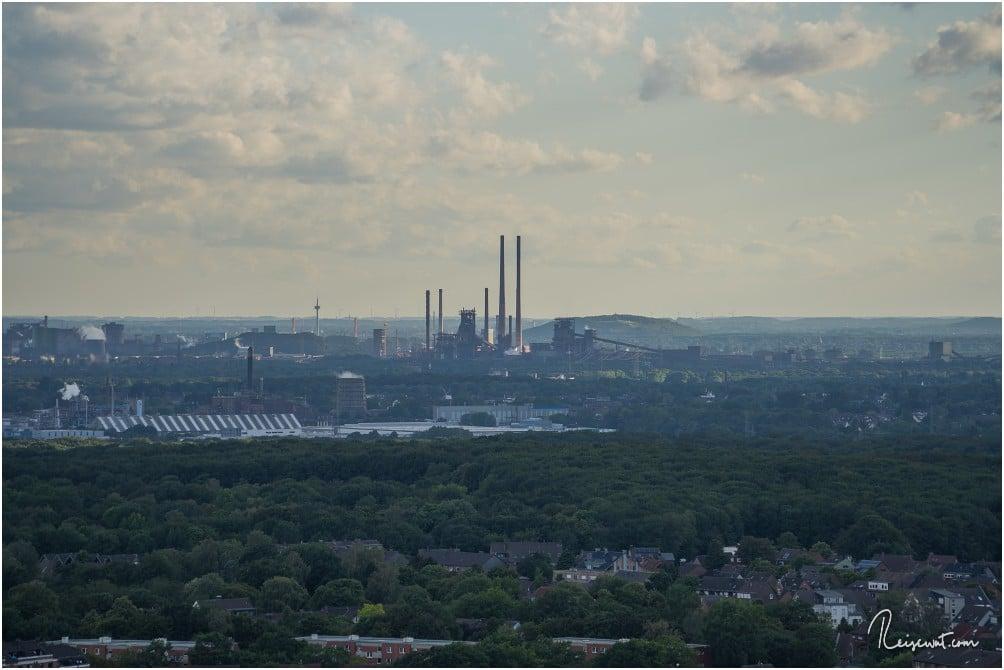 Der Blick in Richtung Landschaftspark Duisburg