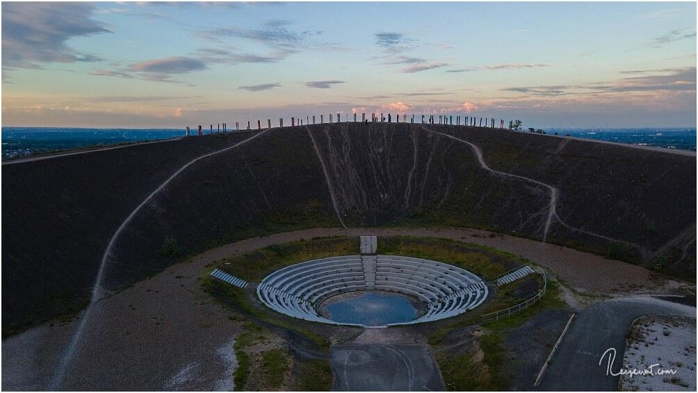 Die BergArena aus einigen Metern Höhe mit der Drohne aufgenommen