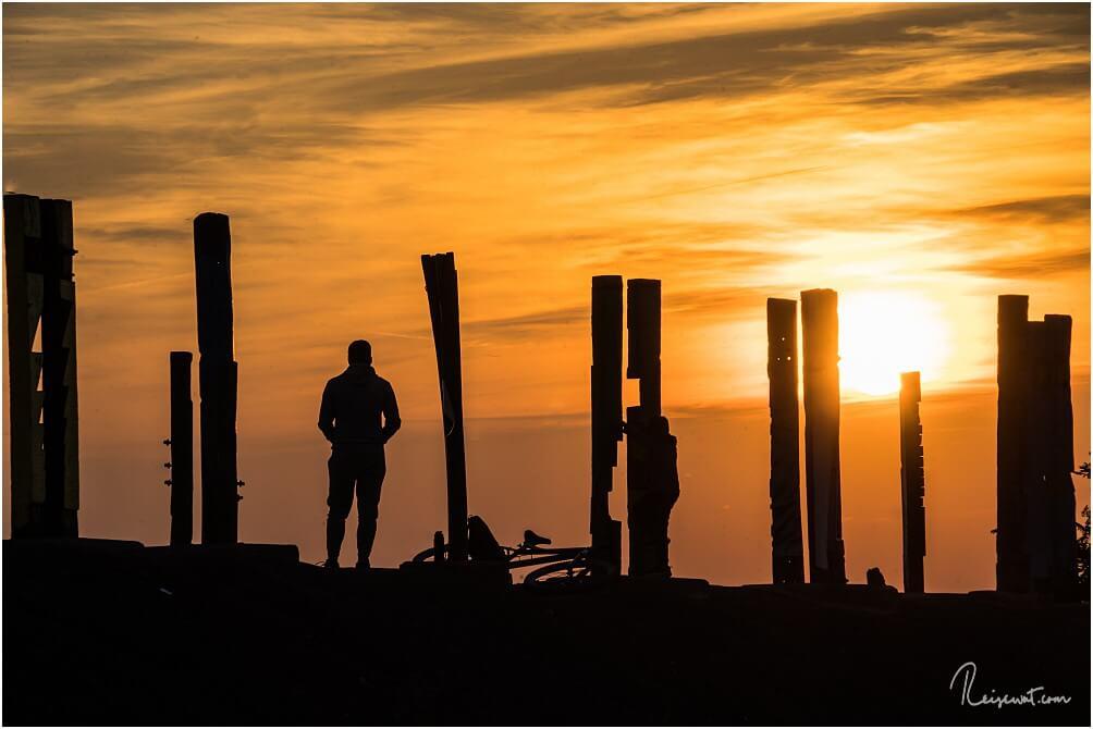 Gerade zum Sonnenuntergang kann man beim fotografieren schön mit Licht und Schatten spielen
