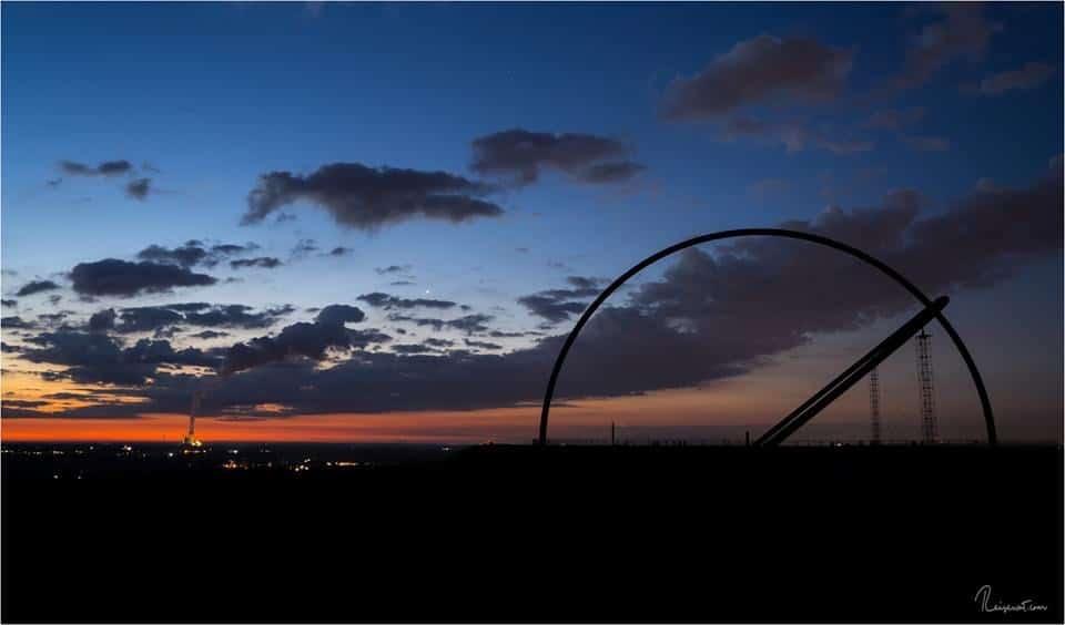 Horizontobservatorium oben auf der Halde Hoheward