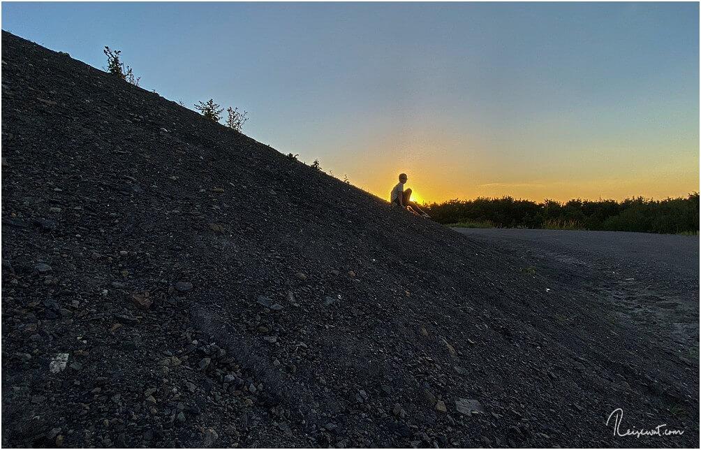Sohnemann kurz vor Sonnenuntergang