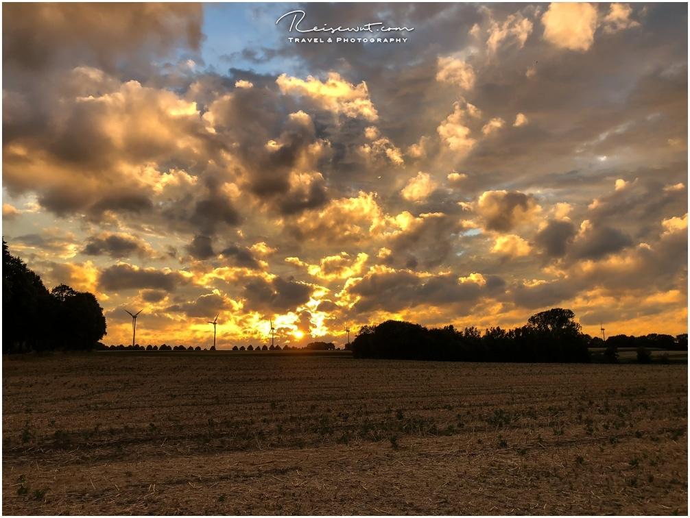 Sonnenuntergang mit HDR Funktion des iPhone aufgenommen
