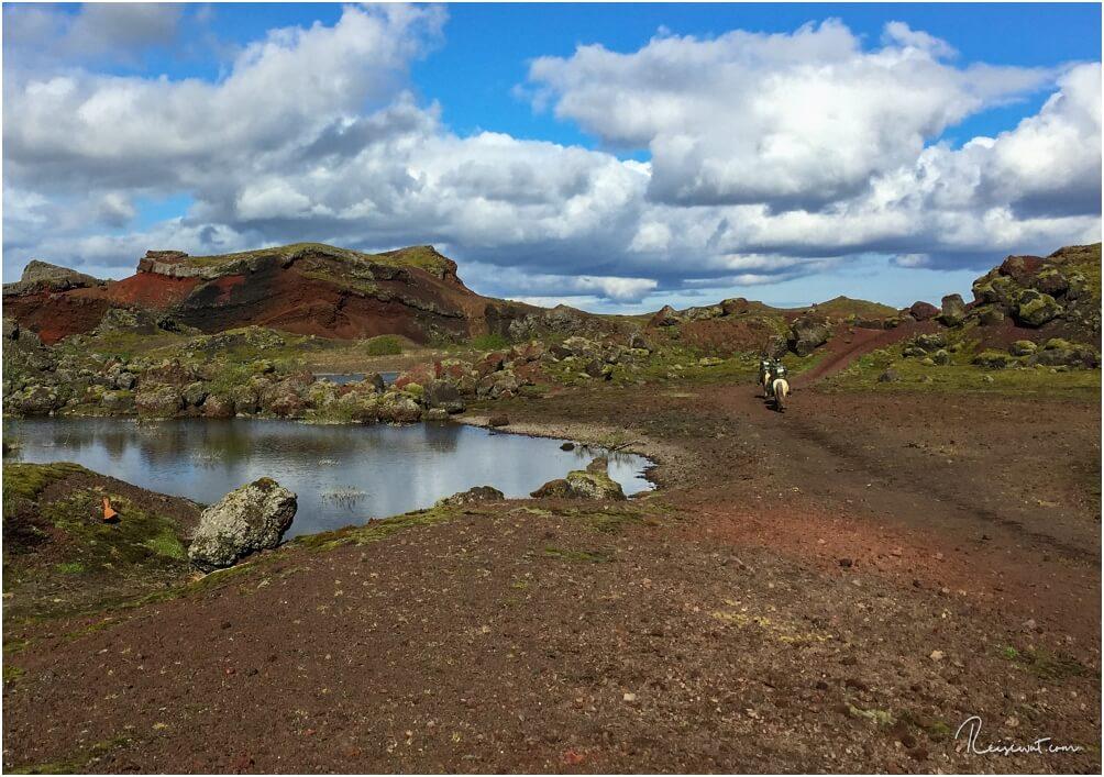 Ein Reitausflug in Islandland durch die grandiose Landschaft im Naturschutz- und Naherholungsgebiet Heiðmörk